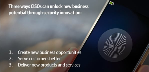 3 ways CISOs can unlock new business potential through security innovation as identified by BT - click for full infographic