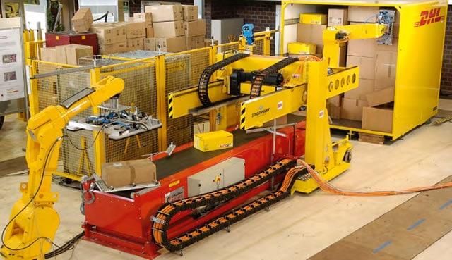 A DHL Parcel Robot - Source and courtesy Deutsche Post DHL Group - DPDHL Robotics in Logistics trend report 2016