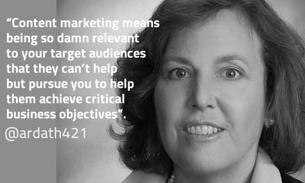 Ardath Albee on content marketing