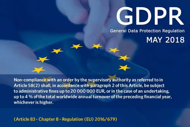Article 83 of the GDPR on the highest GDPR fines - more in Article 83 of Chapter 8