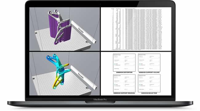 Atlas 3D additive manufacturing software screenshot