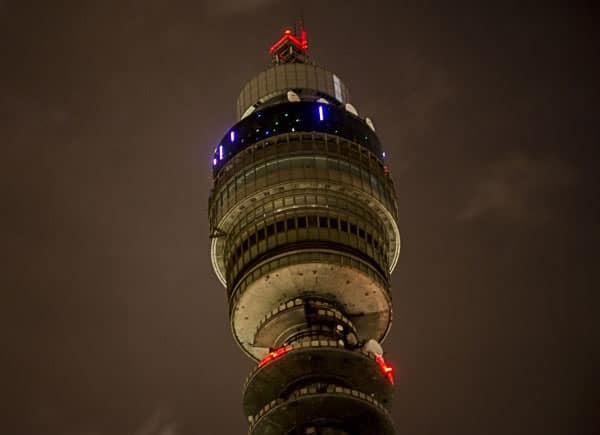 BT Tower - home to an LPWAN base station at 180 metres - picture courtesy BT
