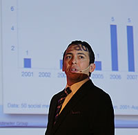 Brian Solis at i-SCOOP's Social Business Sessions – picture by Nancy Verbrugghe