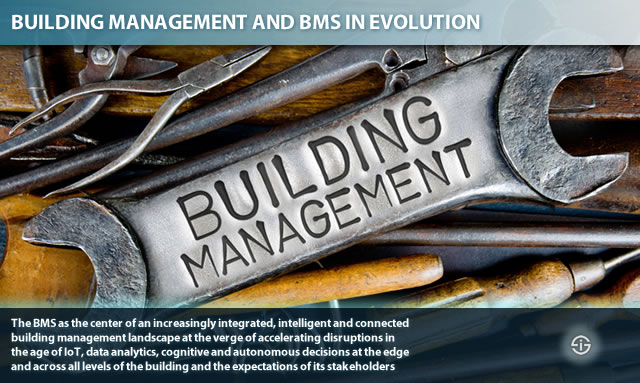Building management and BMS in evolution - the BMS as the center across all levels of the building