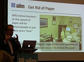 Business at the speed of paper is unacceptable - Atle Sjekkeland, AIIM, picture J-P De Clerck