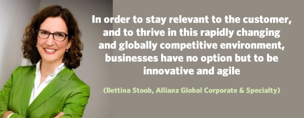 Businesses have no option but to be innovative and agile says Bettina Stoob - picture LinkedIn