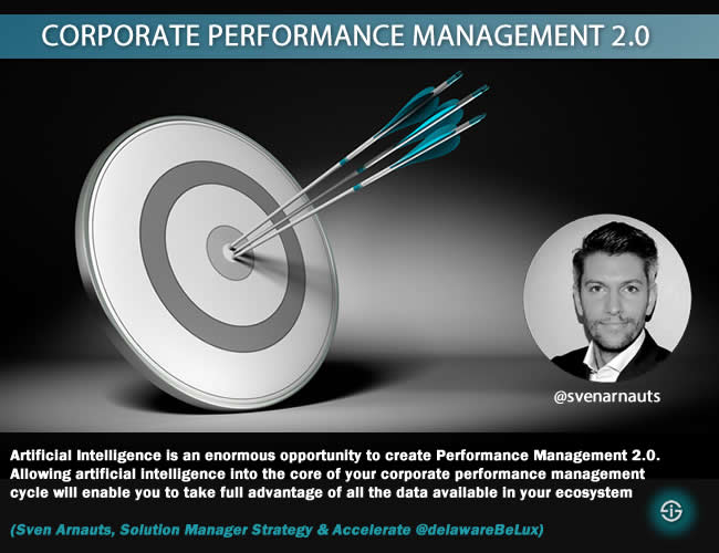 Corporate performance managament CPM Sven Arnauts quote AI for business summit - artificial intelligence and performance management