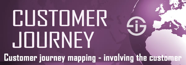 Customer journey mapping involving the customer
