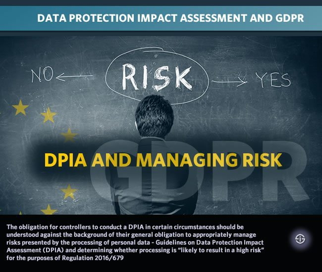 Data protection impact assessment DPIA GDPR guidelines risk management personal data processing