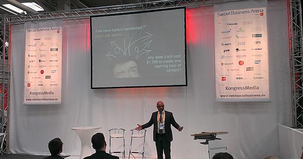 Digital transformation - a long way to go says Sameer Patel SAP at CeBIT 2014 - picture J-P De Clerck
