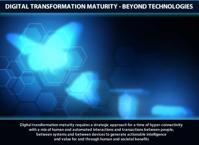 Digital transformation maturity - value for and through human and societal benefits