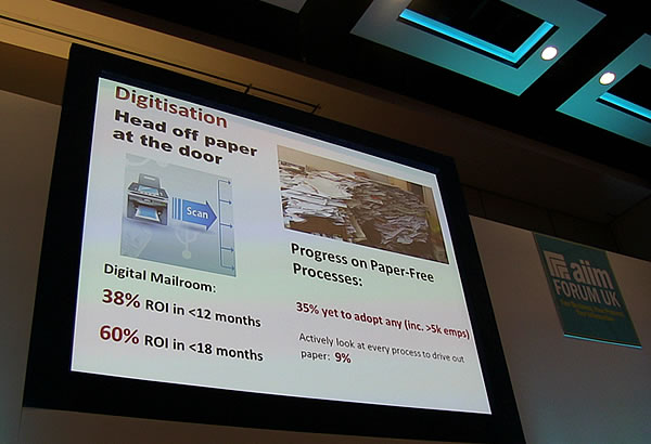 Digitization – benefits of heading off paper at the door with a digital mailroom – Doug Miles at AIIM Forum UK 2015