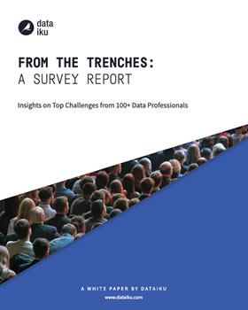 Download the Dataiku white paper 'From the trenches a survey report - insights on top challenges from 100+ data professionals'