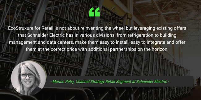 EcoStruxure for Retail quote Marine Petry Schneider Electric interview