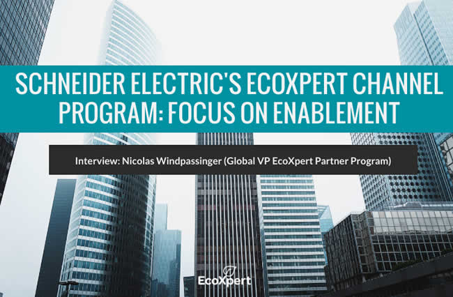 EcoXpert 2019 interview Nicolas Windpassinger - global VP Schneider Electric EcoXpert partner program