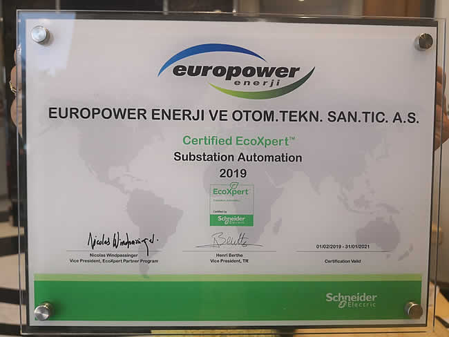 Europower Enerji received the first Substation Automation certification of the EcoXpert Partner Program