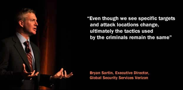 Even though we see specific targets and attack locations change ultimately the tactics used by the criminals remain the same says Bryan Sartin, Executive Director, Global Security Services, Verizon Enterprise Solutions at the occasion of the Verizon 2019 Data Breach Investigations Report (DBIR)