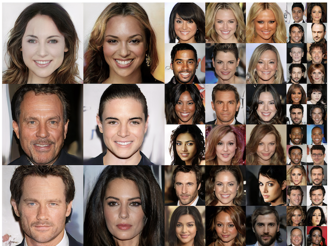 Examples of Photorealistic GAN Generated Faces