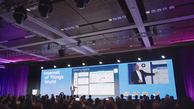 For the report IoT professionals attending Internet of Things World were surveyed - picture source IoT World 2018 impression video day 1