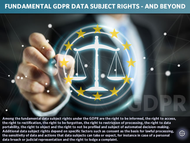 Fundamental GDPR data subject rights and beyond