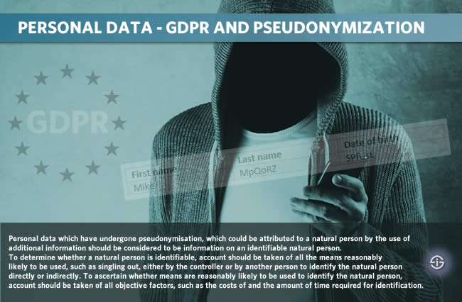 GDPR and pseudonymization - pseudonymous personal data