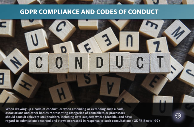 GDPR compliance and GDPR codes of conduct