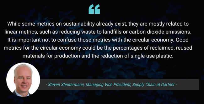 Gartner Managing Vice President Supply Chain Steven Steutermann offers advice on metrics for the circular economy