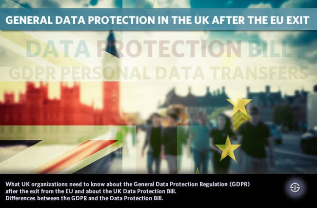 General data protection in the UK after the EU exit - data protection bill GDPR personal data transfers