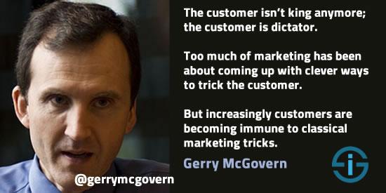Gerry McGovern quote