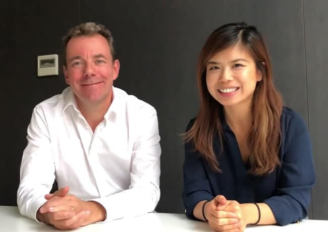 Guillaume Decugis and Joei Chan on the news about Linkfluence and Scoop.it - click for video