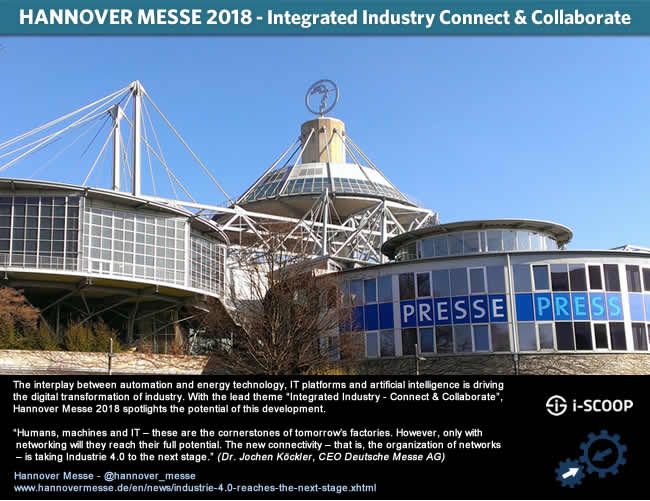 Hannover Messe 2018 - integrated industry connect and collaboration HM18 Industrie 4.0 picture J-P De Clerck i-SCOOP