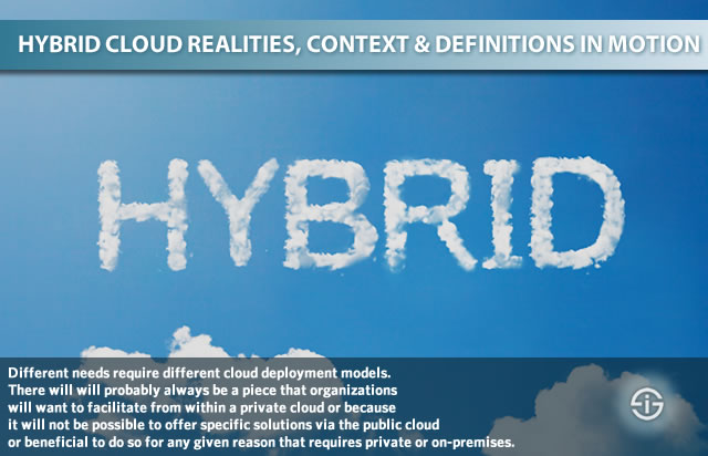 Hybrid cloud - realities and definitions in motion - why a hybrid cloud deployment model is required