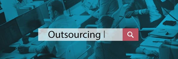 IT outsourcing concept