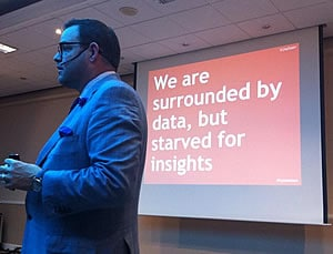 If you think of people like numbers in a spreadsheet you will miss the bigger story - Jay Baer at the Content Marketing Conference Europe 2014 - picture by Tristan Lavender