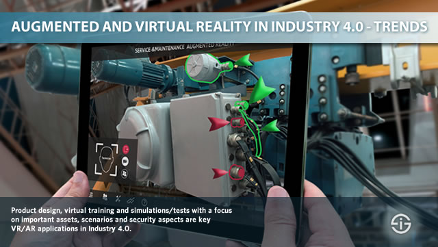 Industry 4.0 augmented reality and virtual reality trends and applications