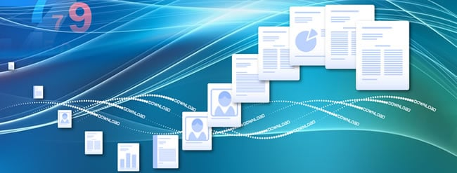 Information management and process digitization concept