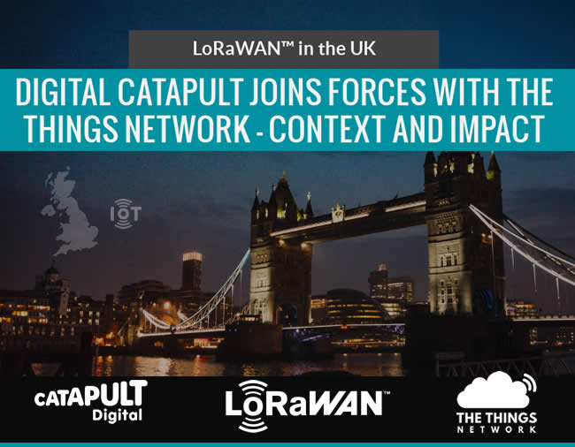 IoT - Digital catapult and the things network join forces - impact and context LoRaWAN in the UK
