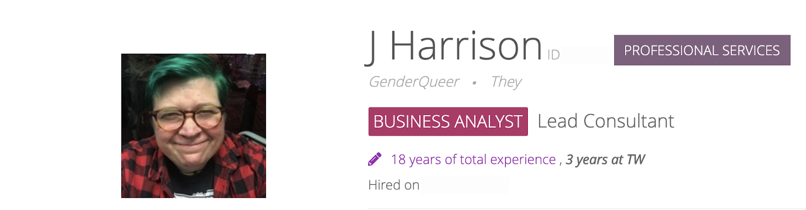 Dr J Harrison