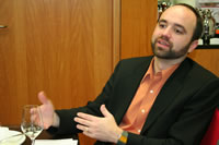 Joe Pulizzi at the i-SCOOP roundtable