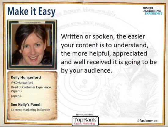 Kelly Hungerford Content Marketing Conference 2014 quote