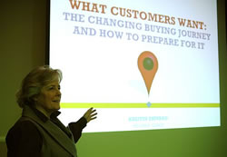 Kristin Zhivago at the Fusion Marketing Experience Antwerp 2012 – picture by Remy Bergsma