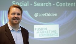 Lee Odden at the i-SCOOP Fusion Marketing Experience in 2012 – picture by Remy Bergsma