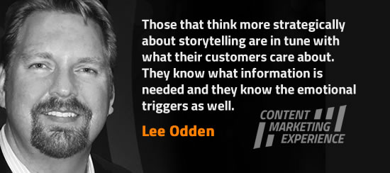 Lee Odden on storytelling - more in the interview