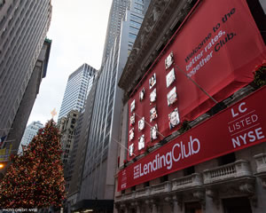 Lending Club - the listed peer-to-peer lending company in the KBW Nasdaq Financial Technology Index - source picture - photo credit NYSE