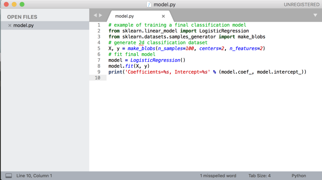 Example of a Machine Learning Text Editor