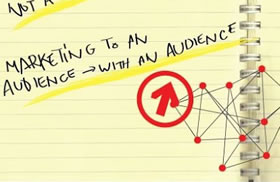 Marketing to an audience with an audience