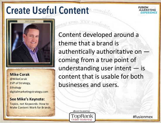 Mike Corak i-SCOOP Content Marketing Conference Europe 2014 quote