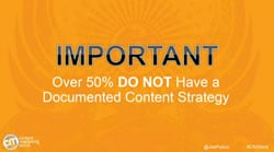 Most marketers have no formal content strategy – source Content Marketing Institute