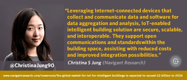 Navigant Research IoT in intelligent buildings quote analyst Christina S Jung - picture courtesy Navigant source Christina Jung on Twitter