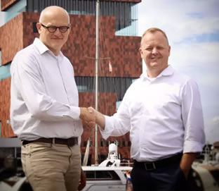 Nico Wauters - CEO T-mining and Hans Verbeeck - CTO NxtPort - picture source